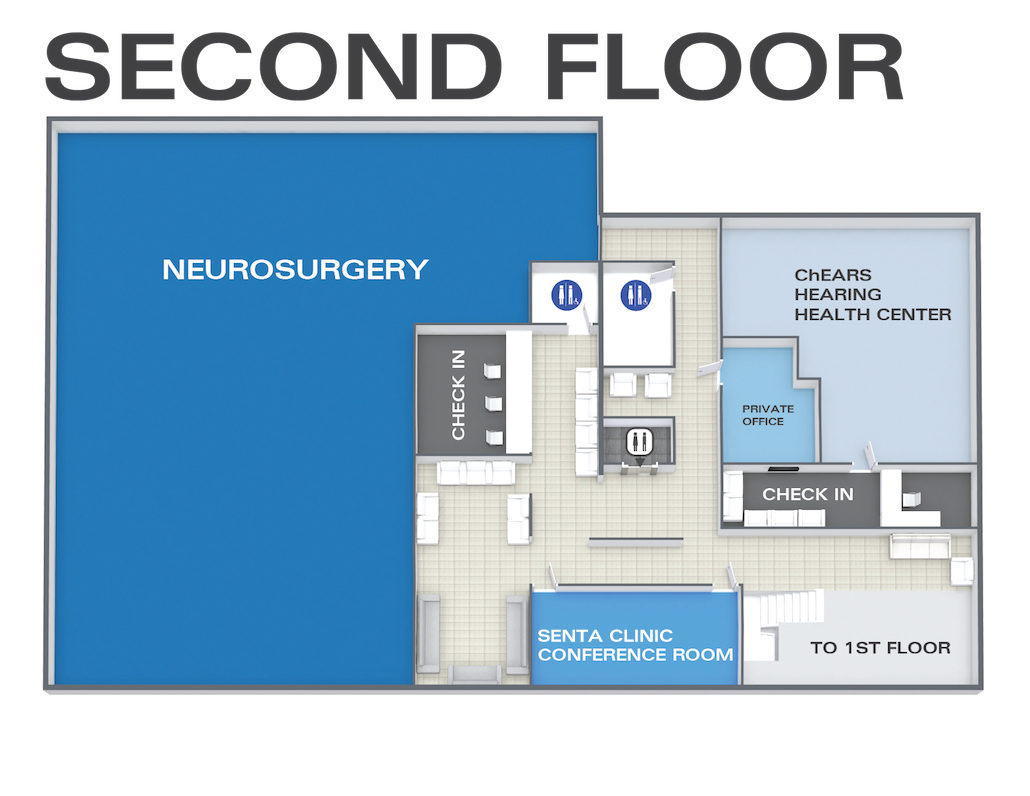 senta clinic neurosurgery and hearing health center map